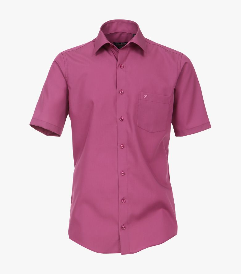 Businesshemd Kurzarm in Pinklila Comfort Fit - CASAMODA