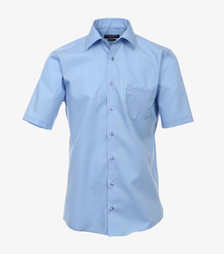 Businesshemd Kurzarm in helles Mittelblau Comfort Fit - CASAMODA