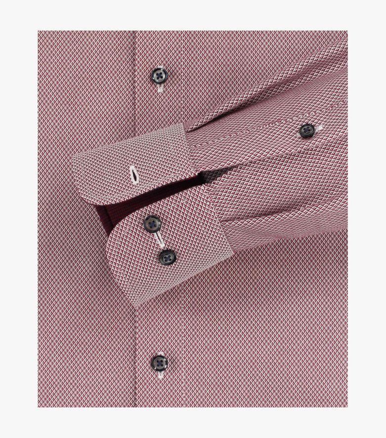 Businesshemd extra langer Arm 72cm in Dunkelrot Comfort Fit - CASAMODA