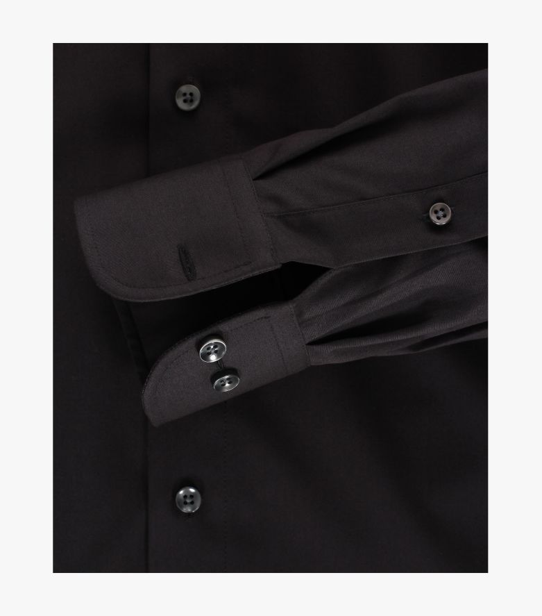 Businesshemd extra langer Arm 72cm in Schwarz Comfort Fit - CASAMODA