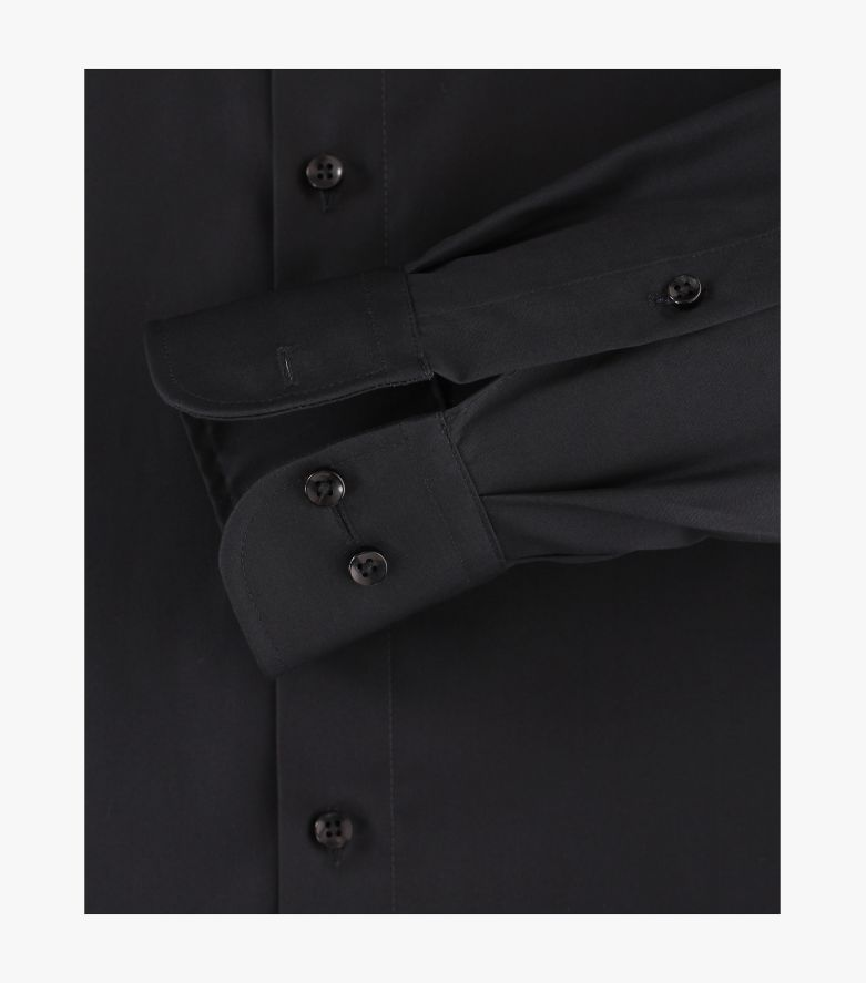Businesshemd extra langer Arm 72cm in Tiefschwarz Comfort Fit - CASAMODA