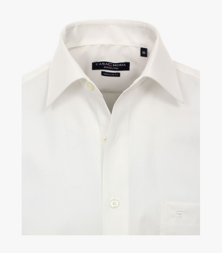 Businesshemd extra kurzer Arm 58cm in Weißbeige Comfort Fit - CASAMODA
