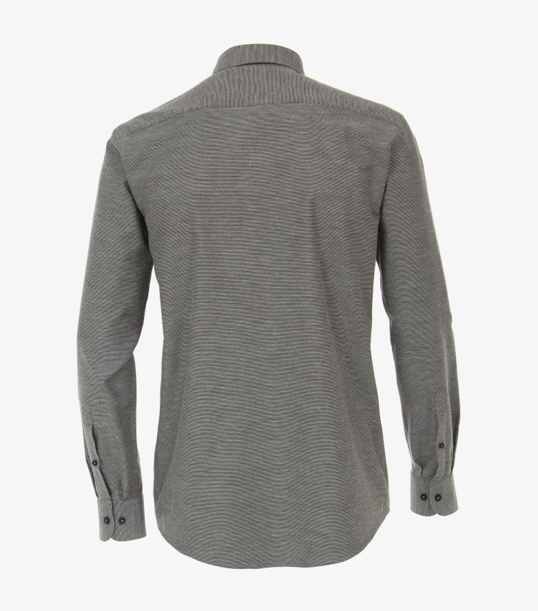 Freizeithemd extra langer Arm 72cm in Grau Casual Fit - CASAMODA