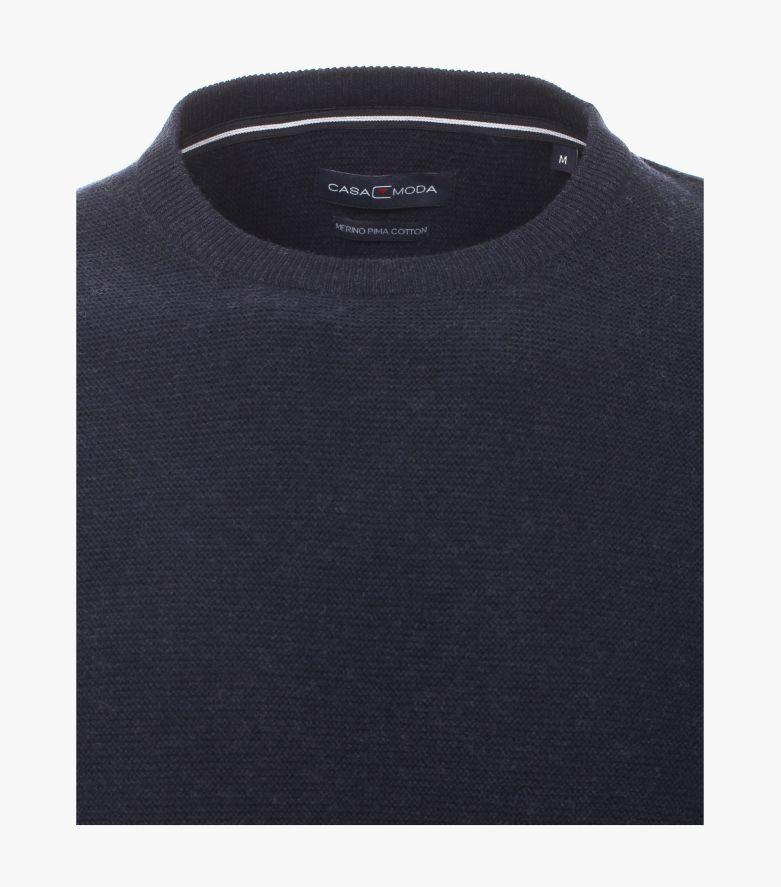 Pullover in Aquadunkelblau - CASAMODA