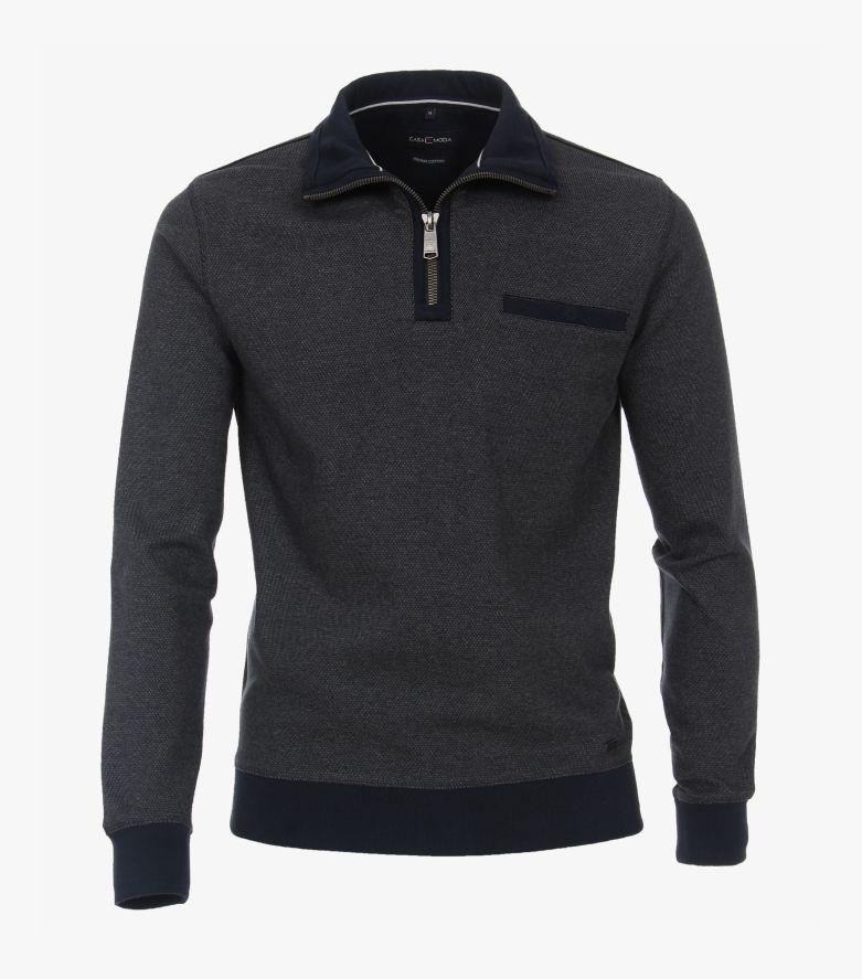 Sweatshirt in graues Dunkelblau - CASAMODA