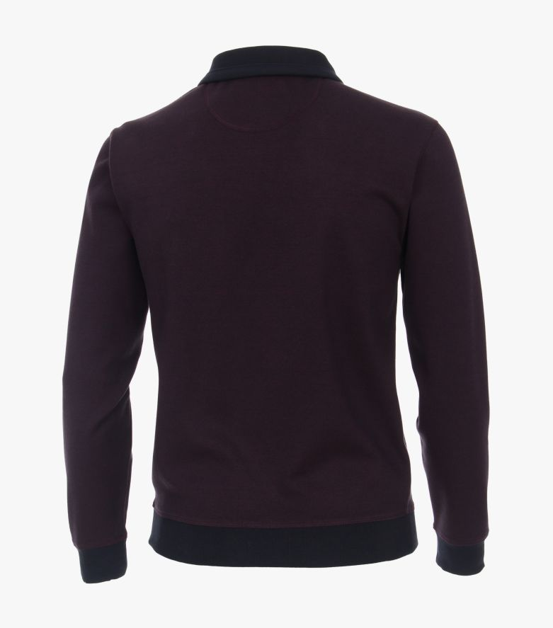 Sweatshirt in Bordeauxrot - CASAMODA