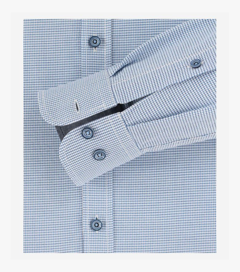 Freizeithemd extra langer Arm 72cm in Hellblau Casual Fit - CASAMODA