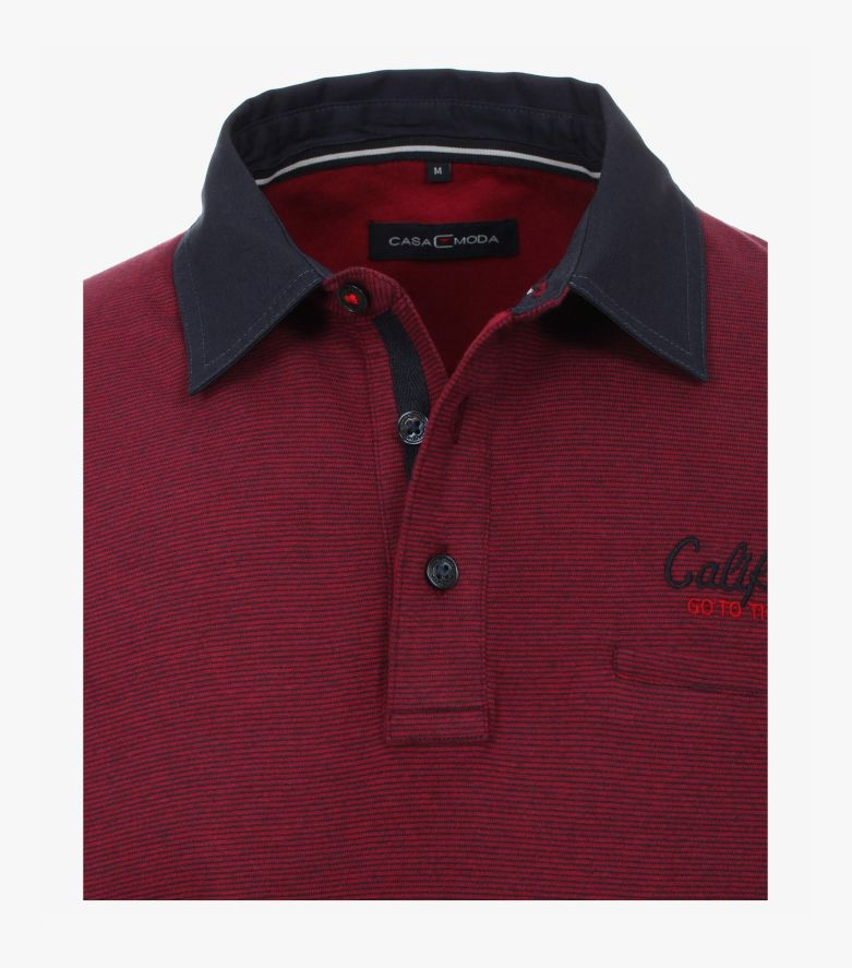 Polo-Shirt Langarm in Beere - CASAMODA