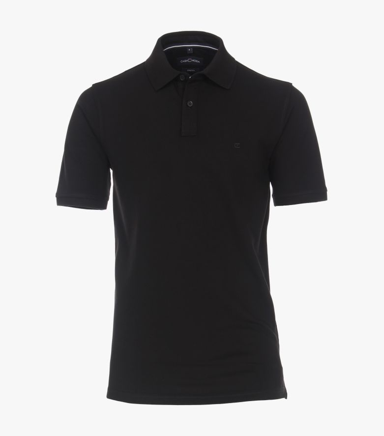 Polo-Shirt in Schwarz - CASAMODA