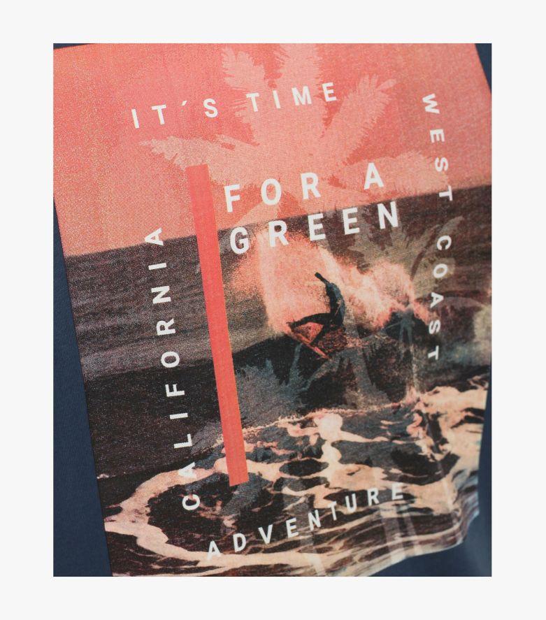 """T-Shirt """"Green""""-Kollektion in graues Dunkelblau - CASAMODA"""
