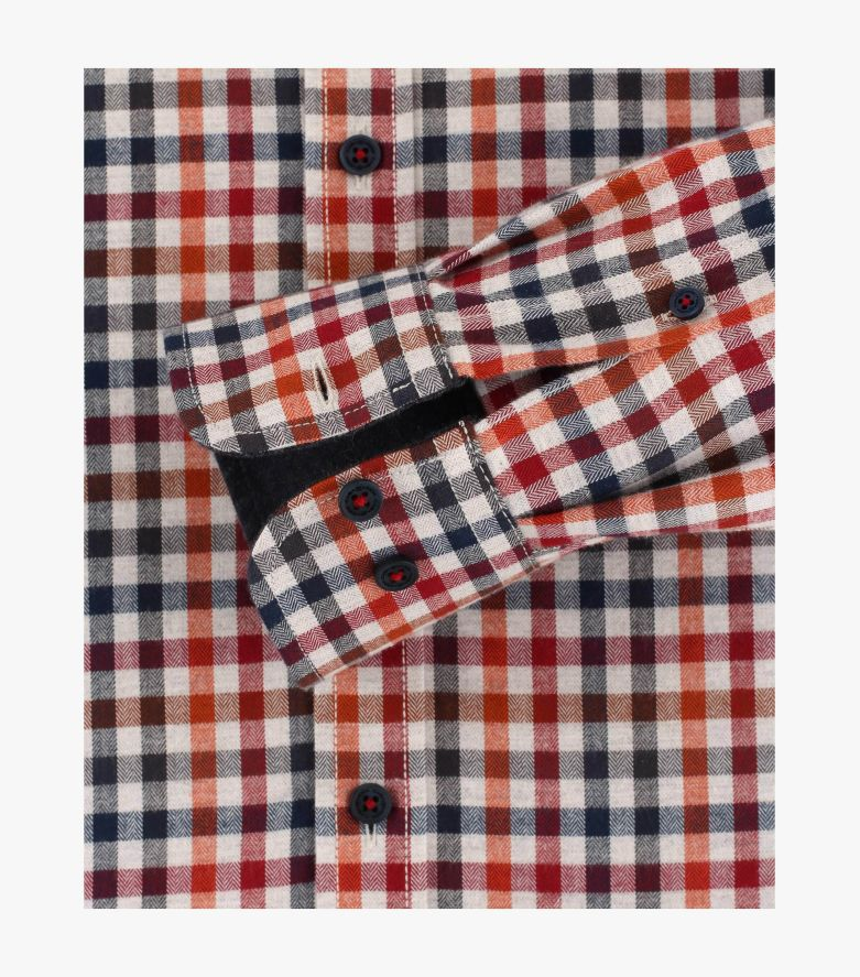 Flanellhemd in Orange Comfort Fit - CASAMODA
