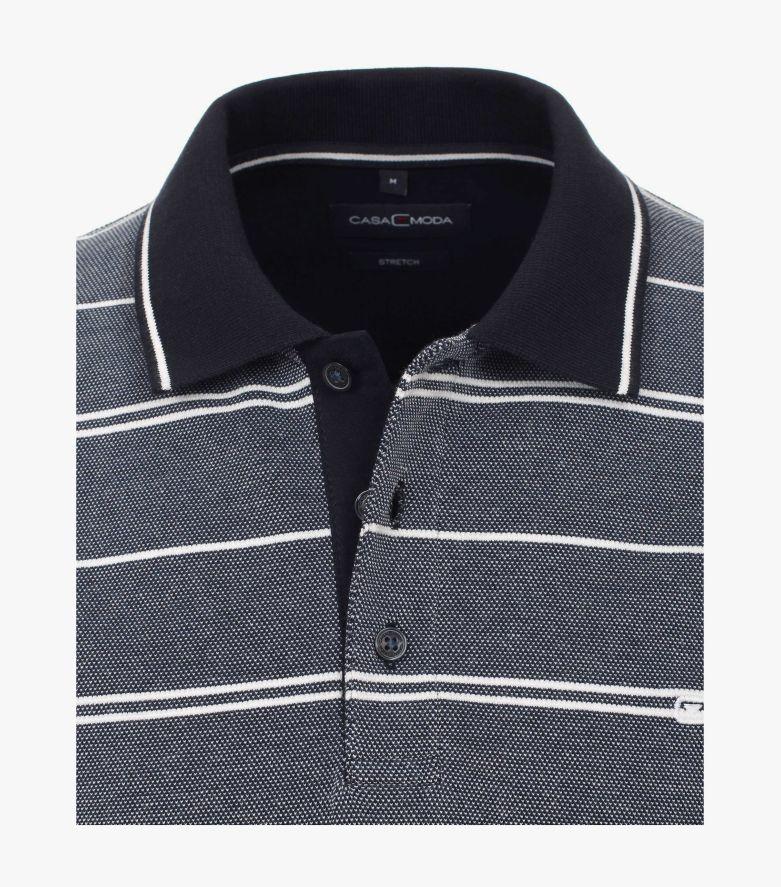 Polo-Shirt in Dunkelblau - CASAMODA