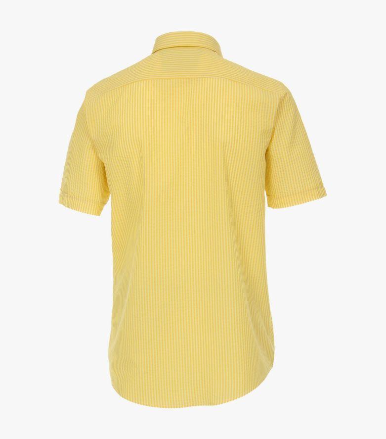 Freizeithemd Kurzarm in Gelb Casual Fit - CASAMODA