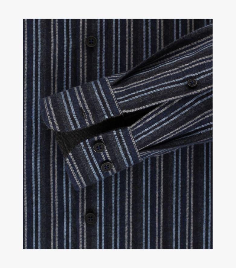 Flanellhemd in Dunkelblau Comfort Fit - CASAMODA