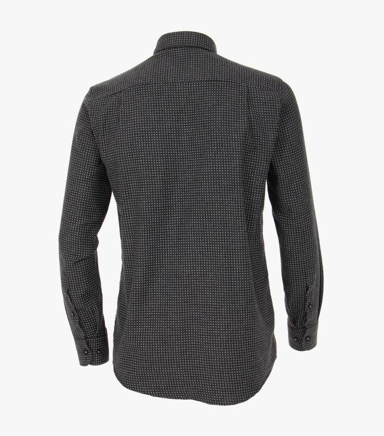 Flanellhemd in Grauschwarz Comfort Fit - CASAMODA