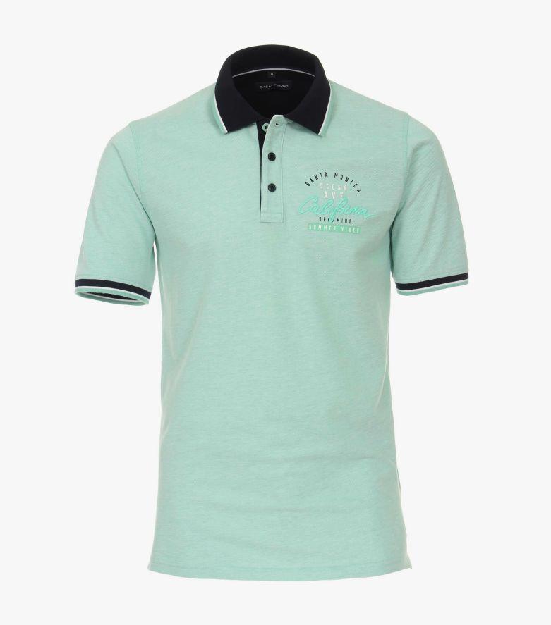 Polo-Shirt in Hellgrün - CASAMODA
