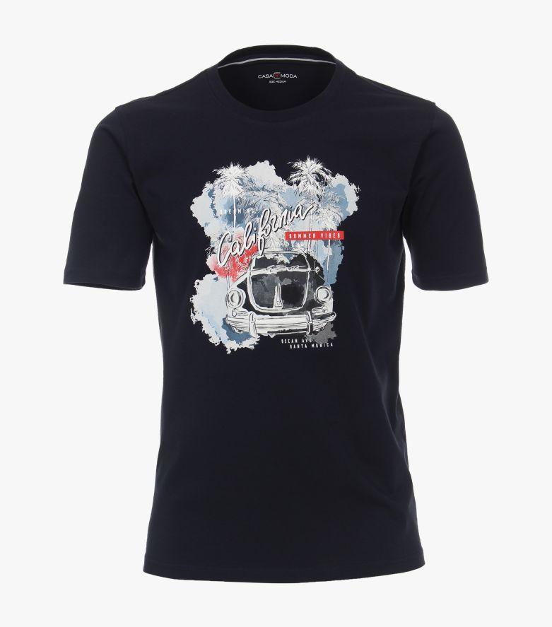 T-Shirt in Weißblau - CASAMODA