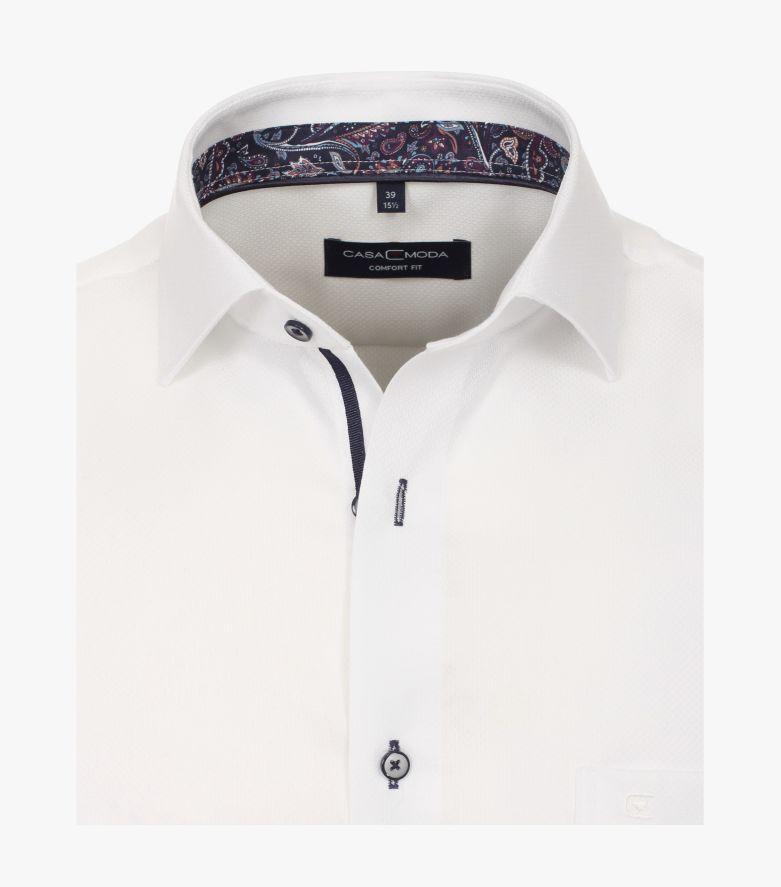 Businesshemd Kurzarm in Weiß Comfort Fit - CASAMODA