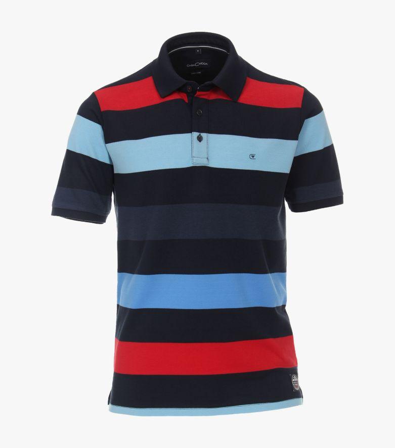 Polo-Shirt in sattes Dunkelblau - CASAMODA