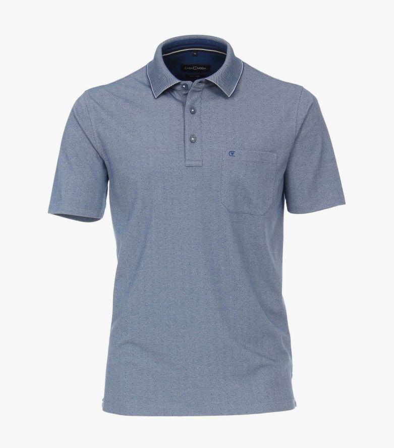 Polo-Shirt in dunkles Mittelblau - CASAMODA