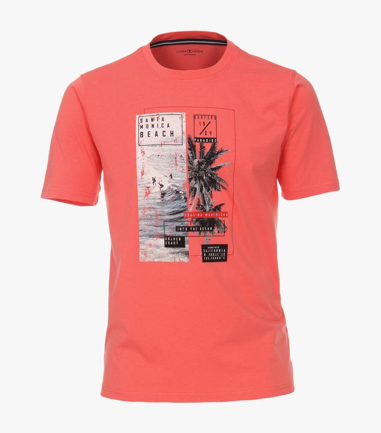 T-Shirt in Rosarot - CASAMODA