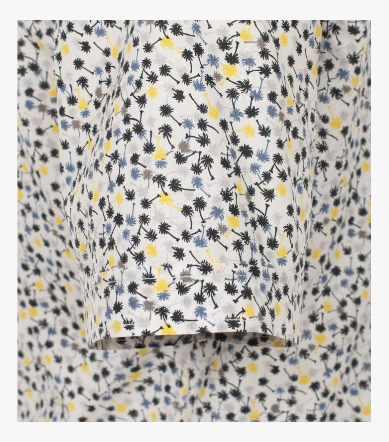 Freizeithemd Kurzarm in Gelb Comfort Fit - CASAMODA
