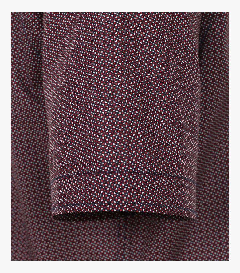 Freizeithemd Kurzarm in Dunkelrot Comfort Fit - CASAMODA
