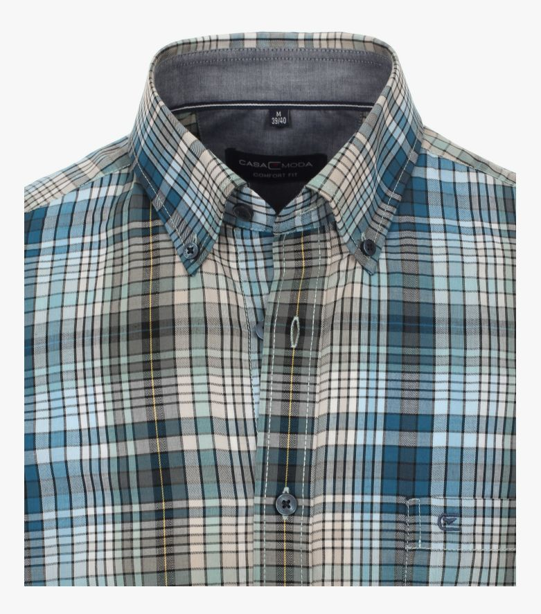 Freizeithemd in dunkles Türkis Comfort Fit - CASAMODA