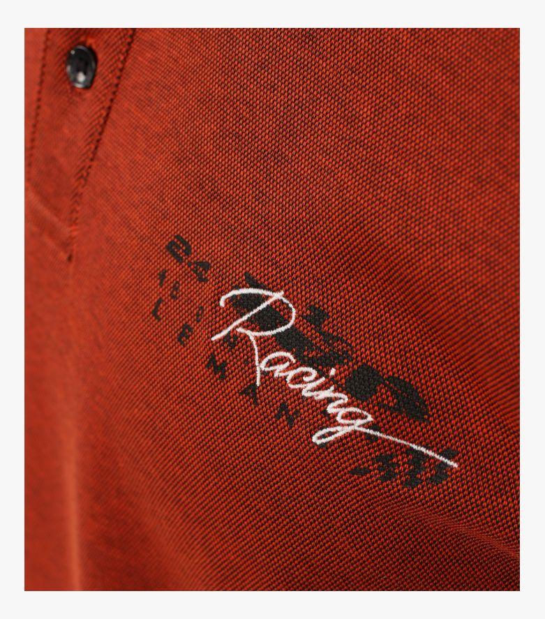 """Polo-Shirt """"Racing""""-Kollektion in Dunkelorange - CASAMODA"""