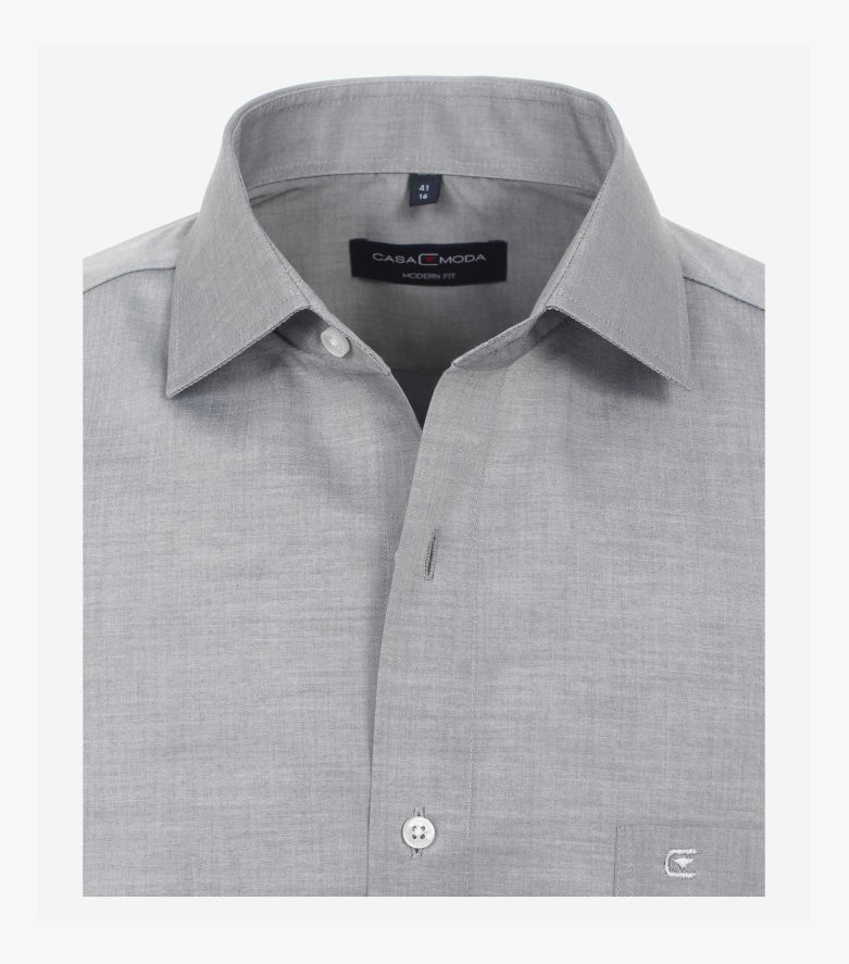 Businesshemd extra lang in Grau Modern Fit - CASAMODA