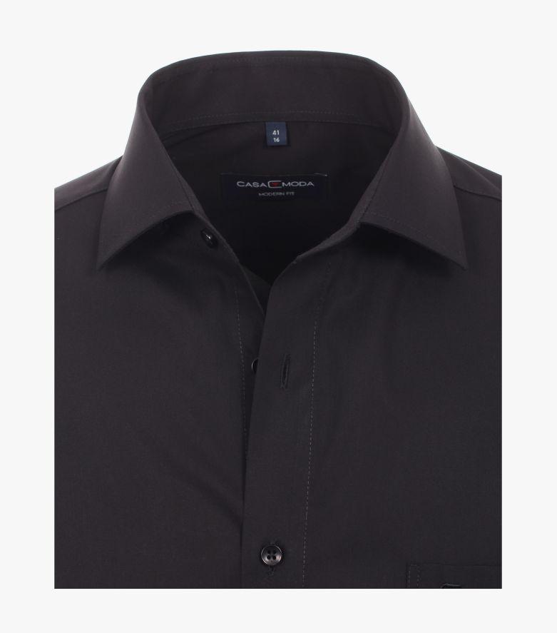 Businesshemd extra lang in Schwarz Modern Fit - CASAMODA