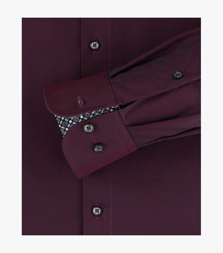 Businesshemd in Bordeauxrot Comfort Fit - CASAMODA