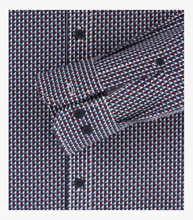 Freizeithemd extra langer Arm 72cm in Dunkelrot Casual Fit - CASAMODA