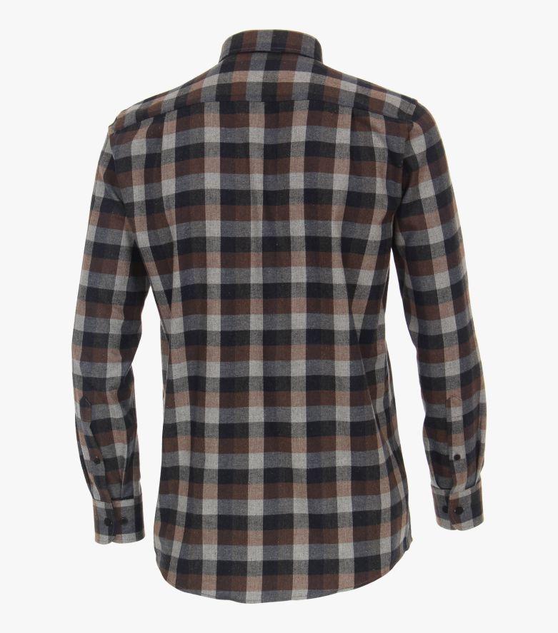 Flanellhemd in Braun Comfort Fit - CASAMODA