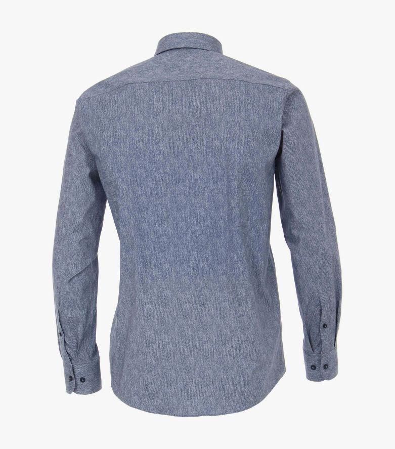 Freizeithemd extra langer Arm 72cm in Blau Casual Fit - CASAMODA