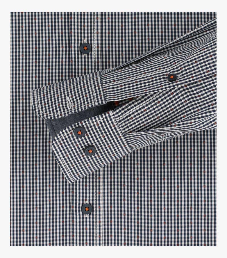 Freizeithemd extra langer Arm 72cm in Bordeauxrot Casual Fit - CASAMODA