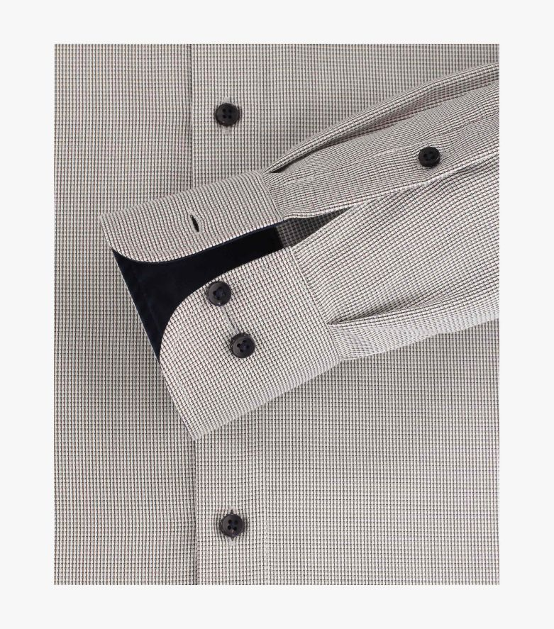 Businesshemd extra langer Arm 72cm in Beige Comfort Fit - CASAMODA