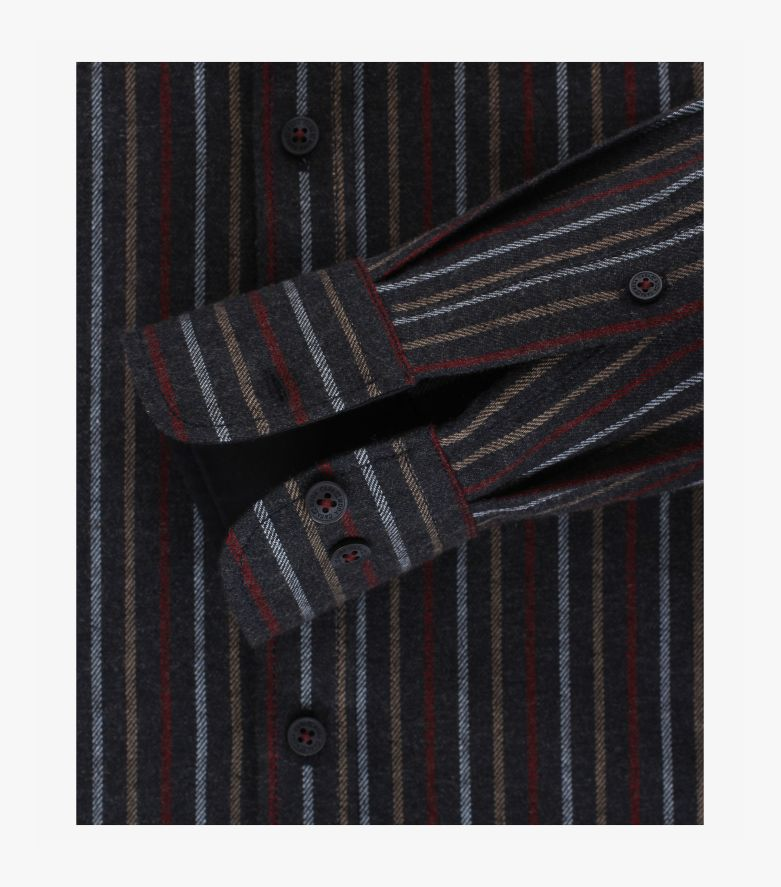 Freizeithemd in graues Dunkelblau Comfort Fit - CASAMODA