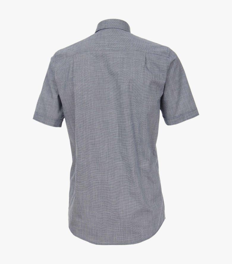 Freizeithemd Kurzarm in graues Dunkelblau Comfort Fit - CASAMODA