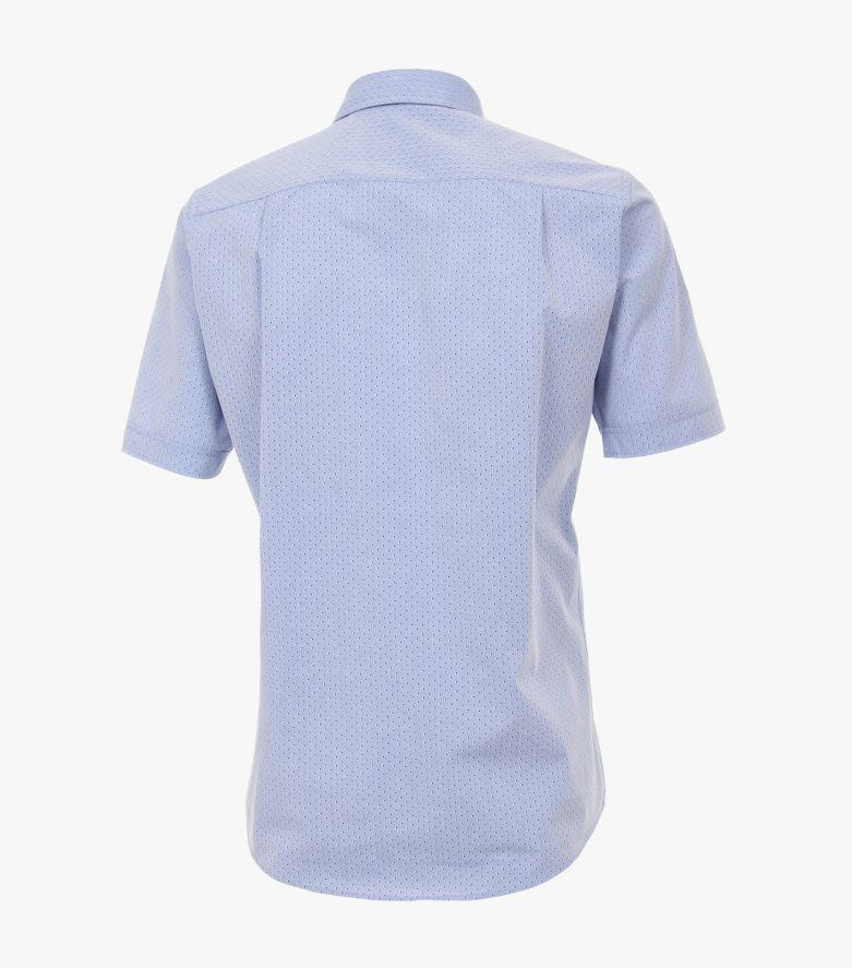 Freizeithemd Kurzarm in Azurblau Comfort Fit - CASAMODA