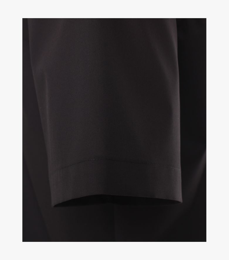 Businesshemd Kurzarm in Schwarz Modern Fit - CASAMODA