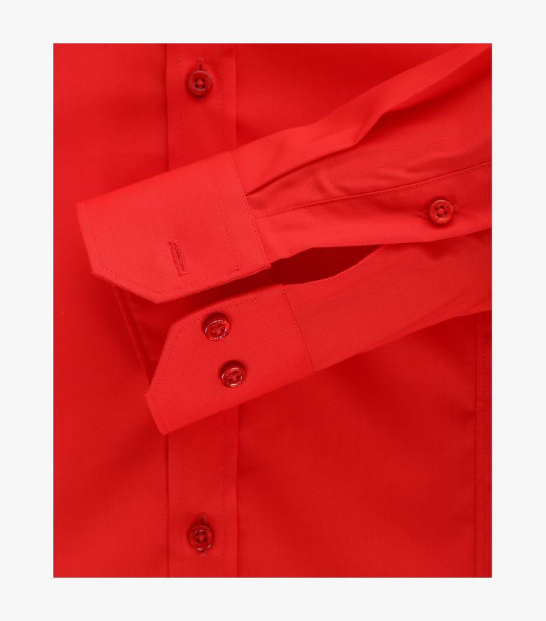 Businesshemd in sattes Rot Body Fit - VENTI