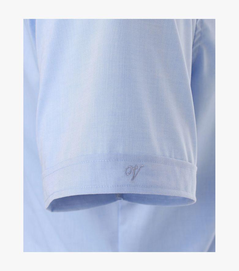 Businesshemd Kurzarm in Azurblau Body Fit - VENTI