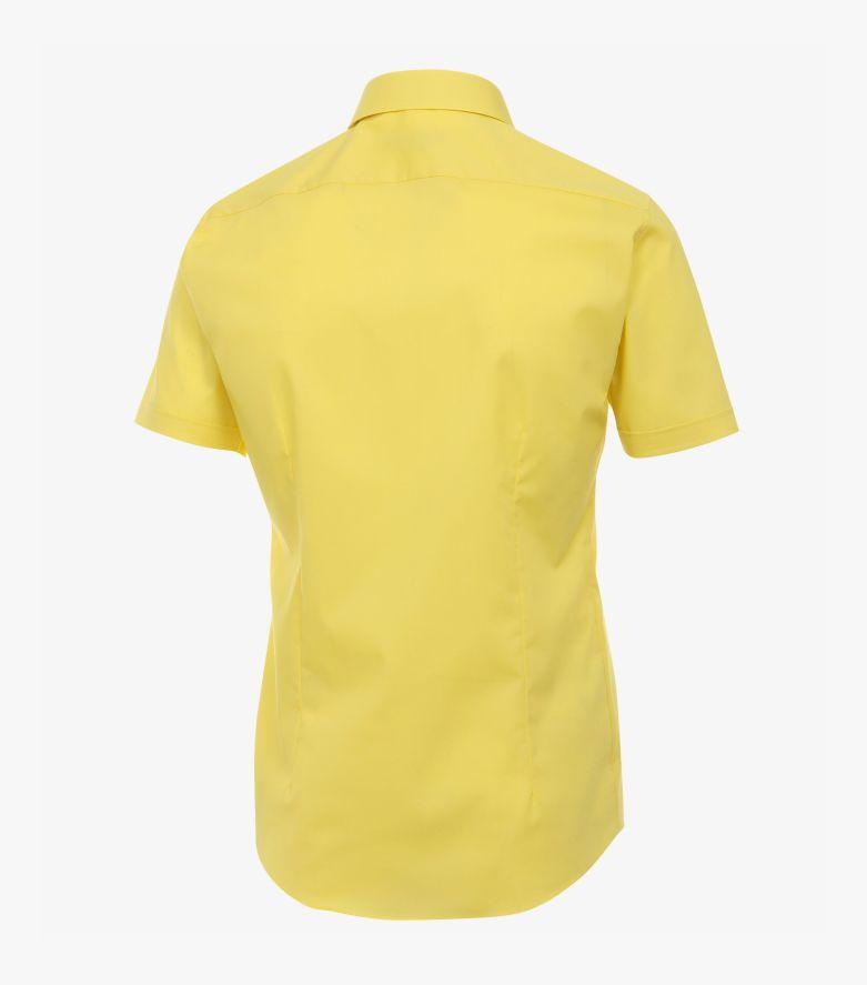 Businesshemd Kurzarm in Gelb Body Fit - VENTI