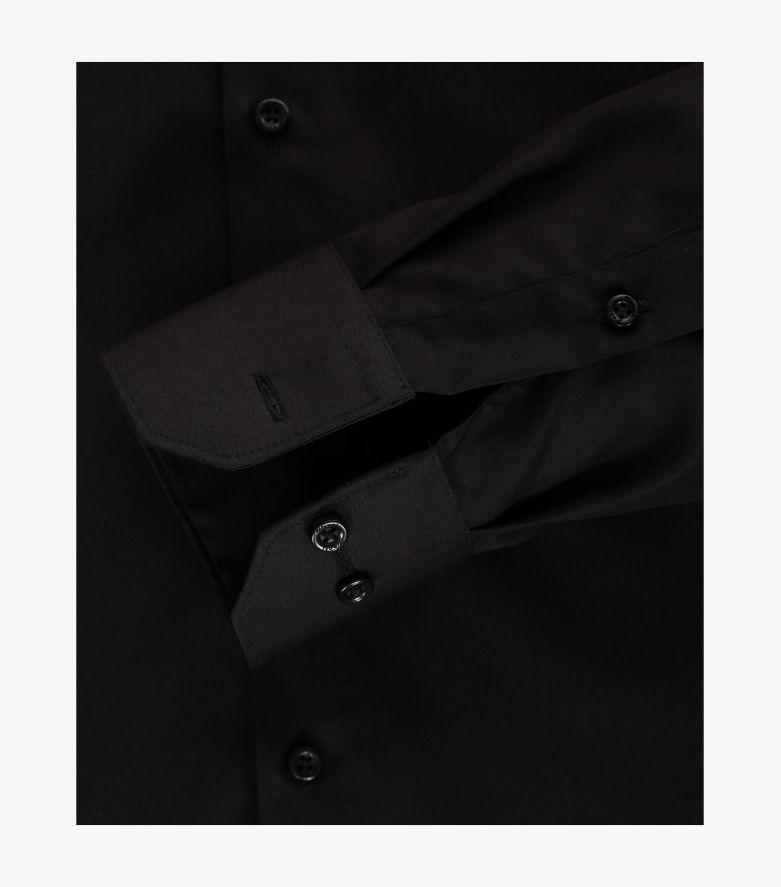 Businesshemd extra langer Arm 72cm in Schwarz Modern Fit - VENTI
