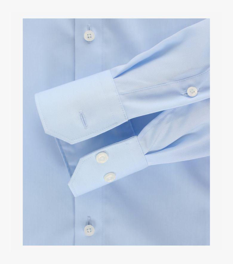Businesshemd extra langer Arm 72cm in Azurblau Modern Fit - VENTI