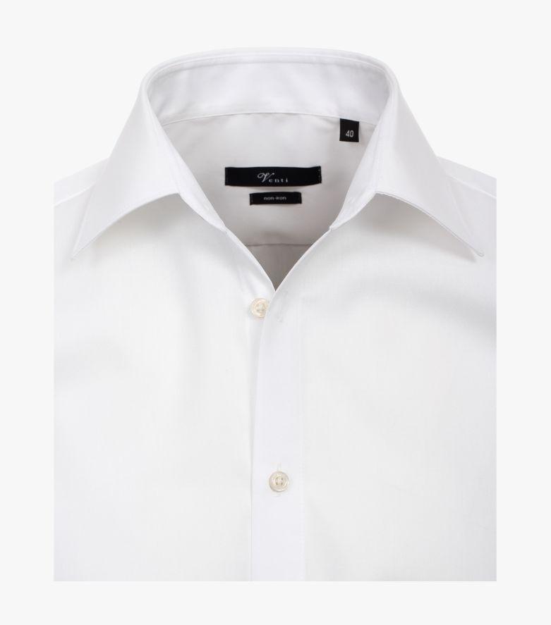 Businesshemd extra langer Arm 69cm in Weiß Modern Fit - VENTI