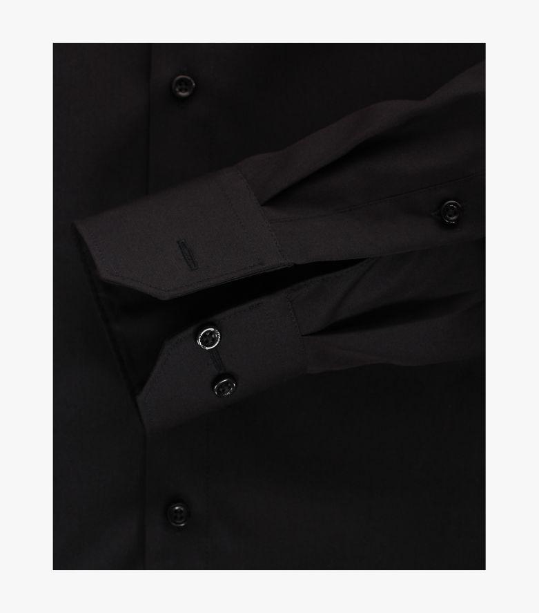 Businesshemd extra langer Arm 69cm in Schwarz Modern Fit - VENTI