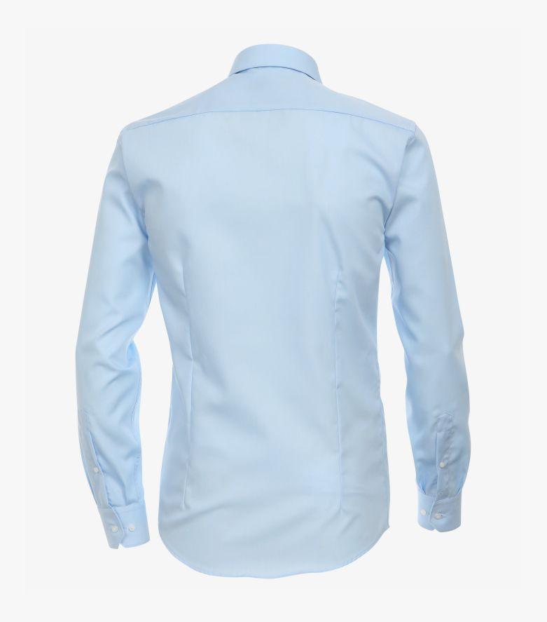 Businesshemd extra langer Arm 69cm in Azurblau Modern Fit - VENTI