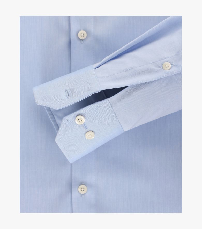 Businesshemd extra langer Arm 69cm in helles Mittelblau Modern Fit - VENTI